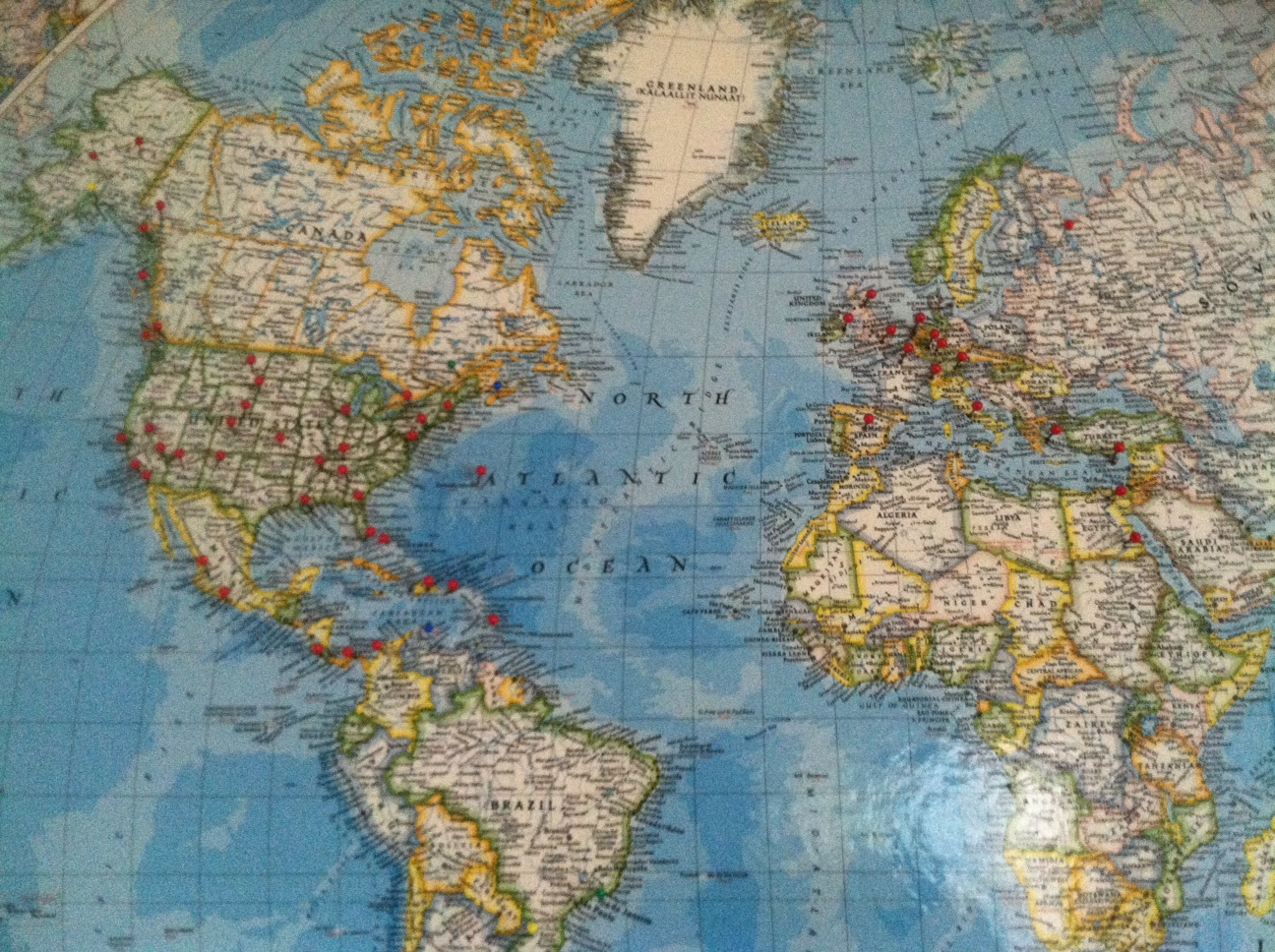 Travel Memories What Will Stand Out When Youre Old and Gray Part – Travel Maps With Pins